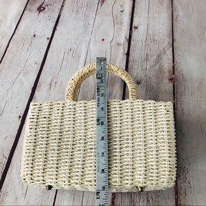 Vintage Bags - Vintage basketweave top handle bag